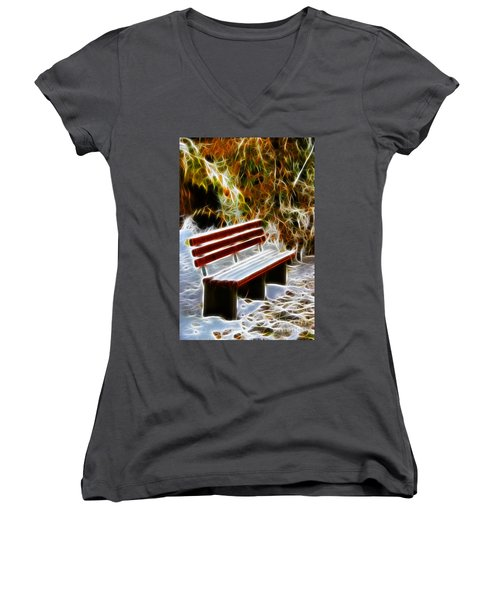 Winters Dream Women's V-Neck T-Shirt