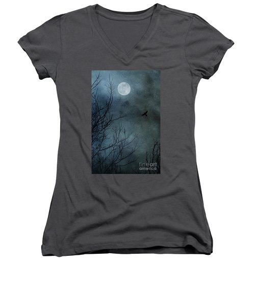 Winter's Silence Women's V-Neck