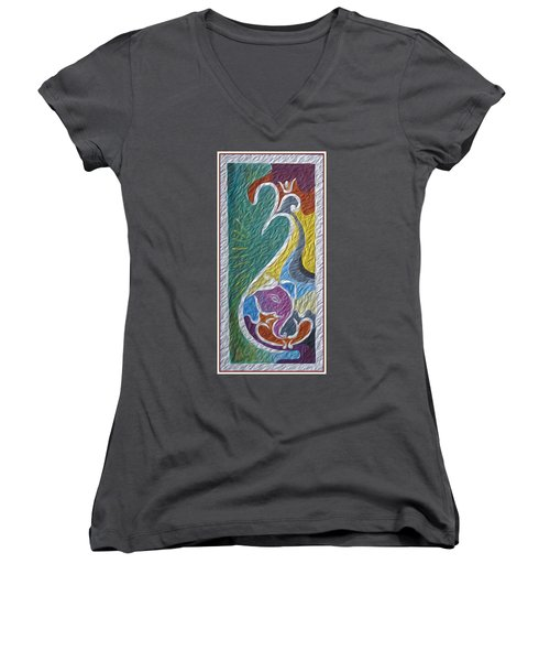 Wisdom And Peace I Women's V-Neck (Athletic Fit)