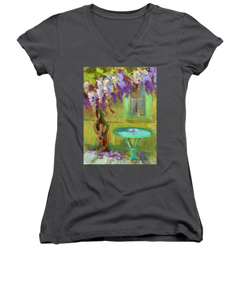 Wisteria At Hotel Baudy Women's V-Neck