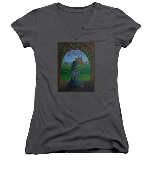 Wistful Women's V-Neck T-Shirt
