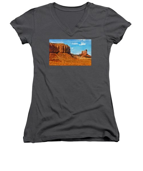 Witnesses Of Time Women's V-Neck T-Shirt (Junior Cut) by Hanny Heim