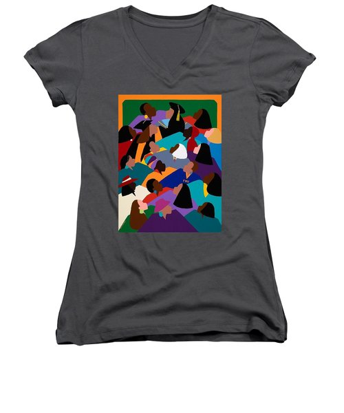 Women Lifting Their Voices Women's V-Neck (Athletic Fit)