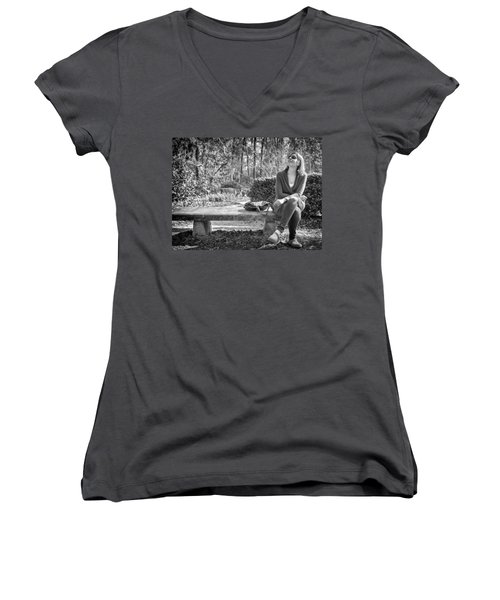 Women's V-Neck featuring the photograph Wonder by Howard Salmon