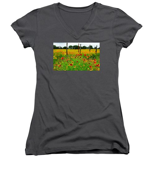 Wonderful Wildflowers Women's V-Neck T-Shirt