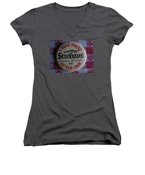 Women's V-Neck T-Shirt (Junior Cut) featuring the photograph Worlds Fair by Michael Krek