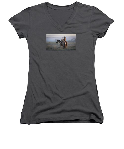 Wyoming Ranch Women's V-Neck (Athletic Fit)
