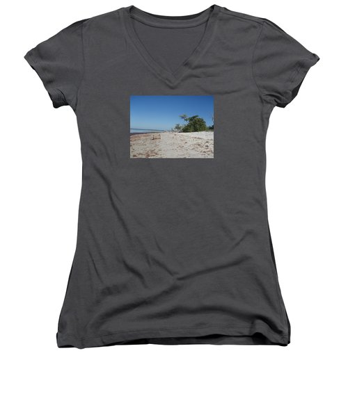 Women's V-Neck T-Shirt (Junior Cut) featuring the photograph Ye Olde Pirates Chest by Robert Nickologianis