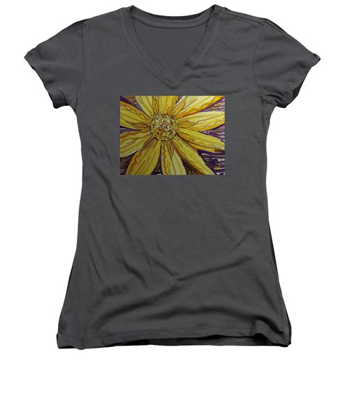 Yellow Chakra Women's V-Neck