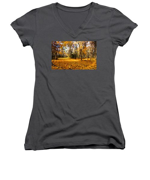Yellow Leaf Road Women's V-Neck