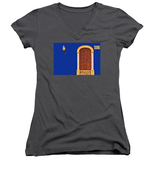 Door And Lamp Women's V-Neck (Athletic Fit)