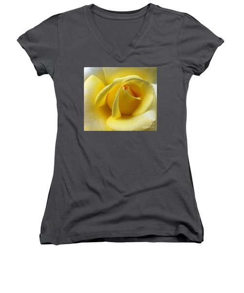 Yellow Rose Softness Women's V-Neck (Athletic Fit)