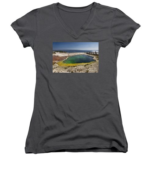 Yellowstone Lake Women's V-Neck (Athletic Fit)