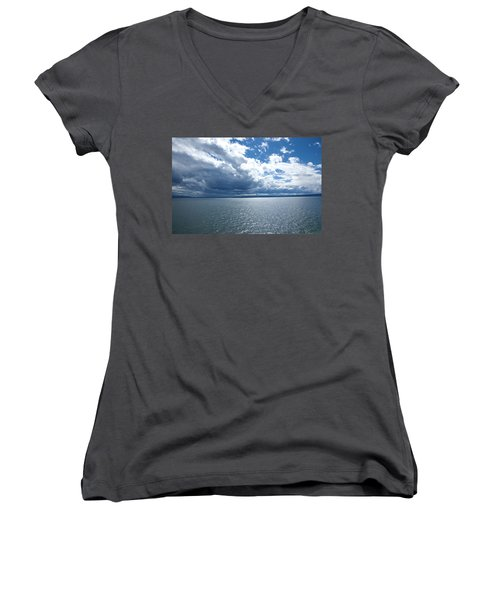 Yellowstone Lake Women's V-Neck (Athletic Fit)