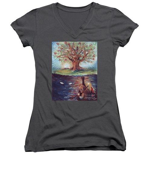 Yggdrasil - The Last Refuge Women's V-Neck T-Shirt