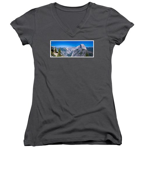 Yosemite Valley From Glacier Point Women's V-Neck (Athletic Fit)