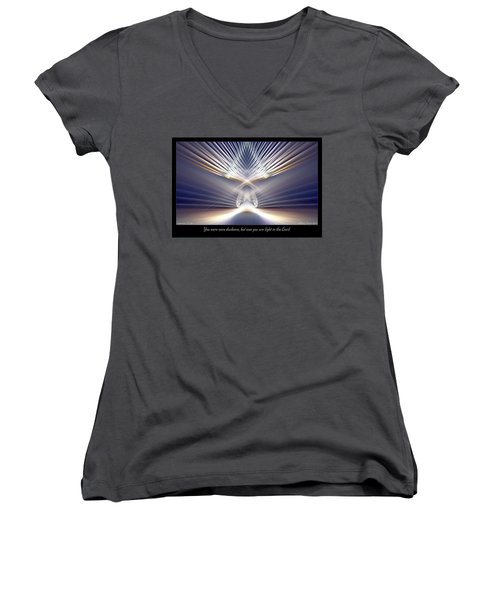 You Are Light Women's V-Neck (Athletic Fit)