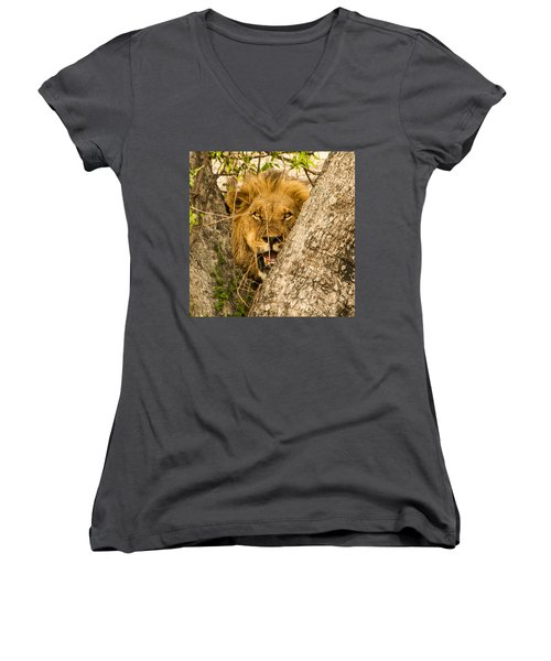 You Can't See Me Women's V-Neck (Athletic Fit)
