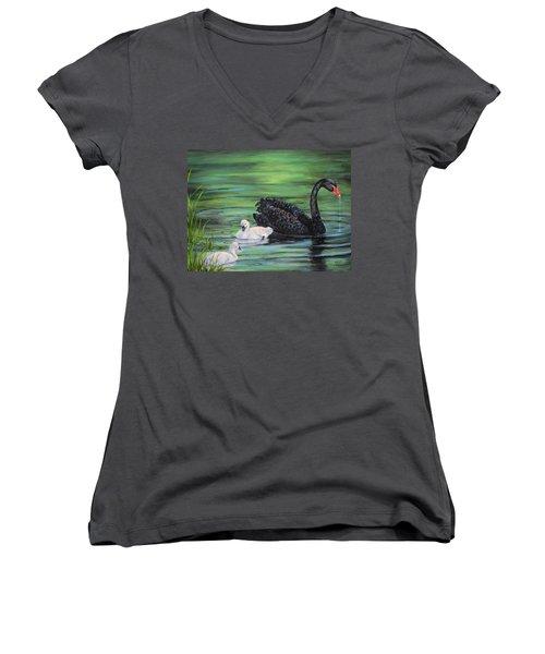 You Comin'--black Swan Women's V-Neck T-Shirt
