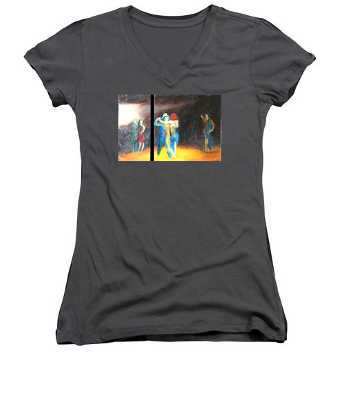 You Shine  Diptych Women's V-Neck