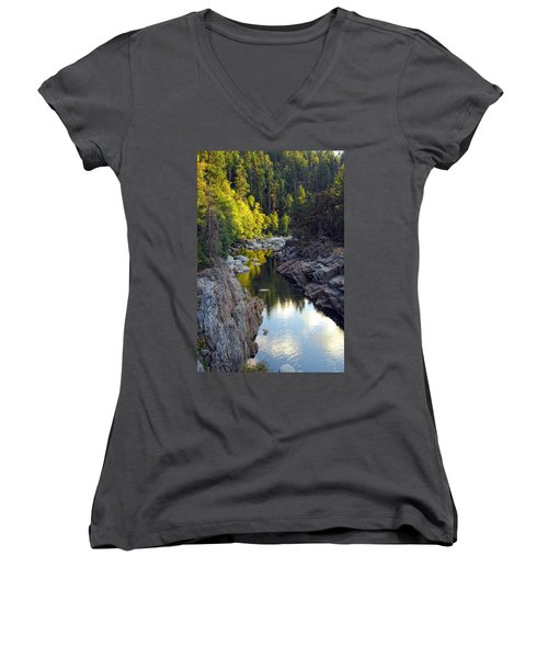 Yuba River Twilight Women's V-Neck (Athletic Fit)