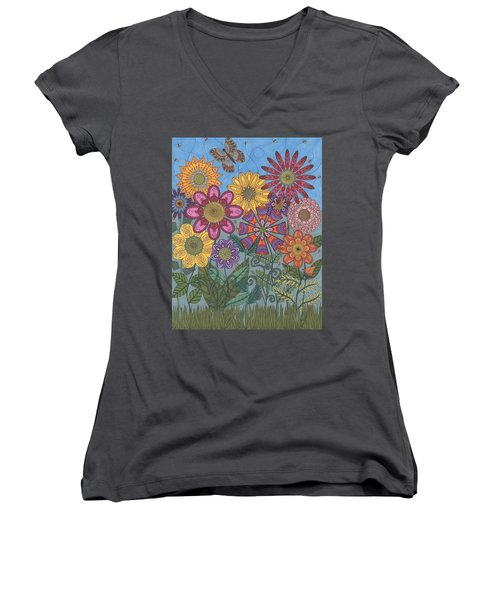 Zen Garden Women's V-Neck (Athletic Fit)