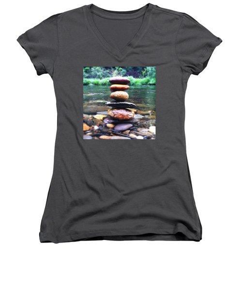 Zen Stones II Women's V-Neck T-Shirt