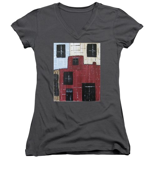 Eureka Springs Arkansas #1 Women's V-Neck T-Shirt (Junior Cut)