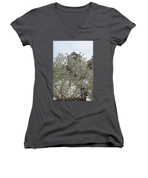 Santa Lucia Alla Badia Church Women's V-Neck T-Shirt