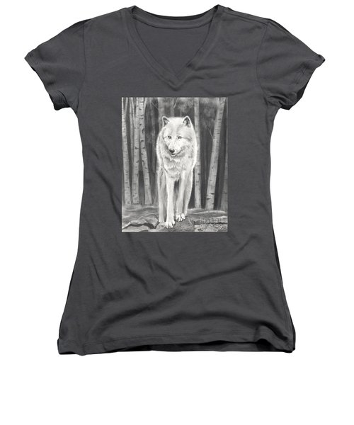 Arctic Wolf Women's V-Neck (Athletic Fit)