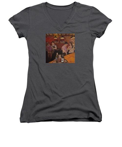 Cafe Women's V-Neck T-Shirt