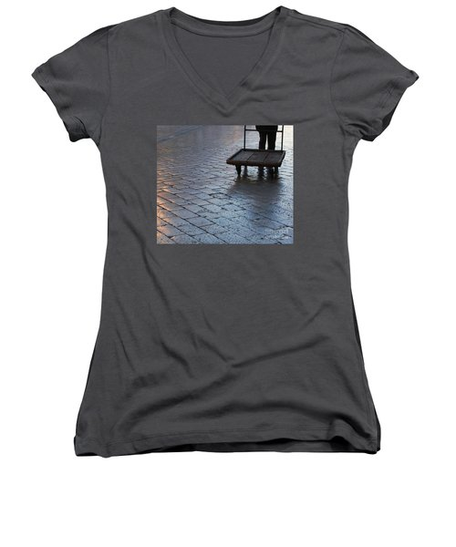 Women's V-Neck T-Shirt (Junior Cut) featuring the photograph Colors Of Light by Andy Prendy