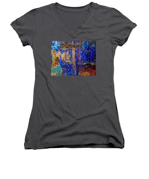 Design For Meditation Women's V-Neck T-Shirt
