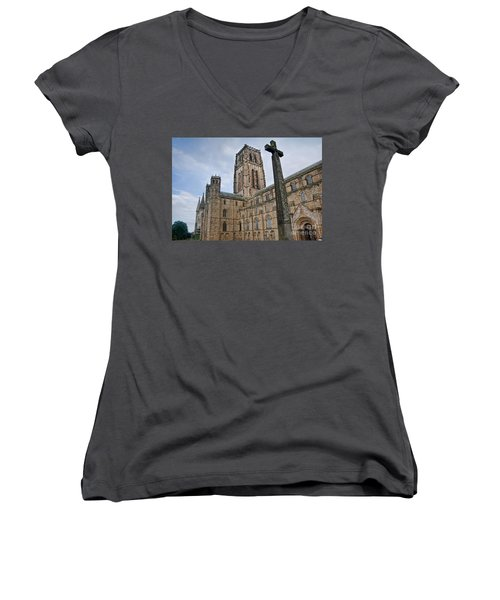Durham Cathedral Women's V-Neck (Athletic Fit)