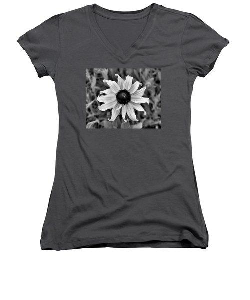 Flower Women's V-Neck T-Shirt (Junior Cut) by Brian Hughes