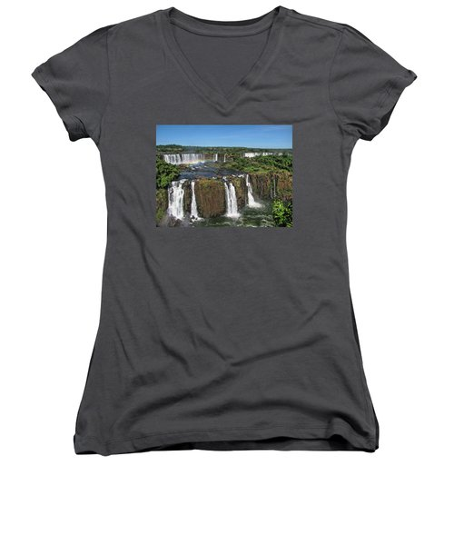 Iguazu Falls Women's V-Neck T-Shirt