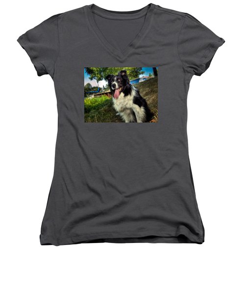 My Best Friend Women's V-Neck T-Shirt