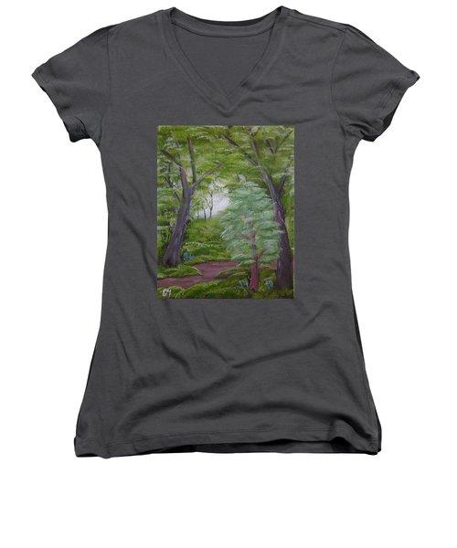 Summer Morning Women's V-Neck T-Shirt