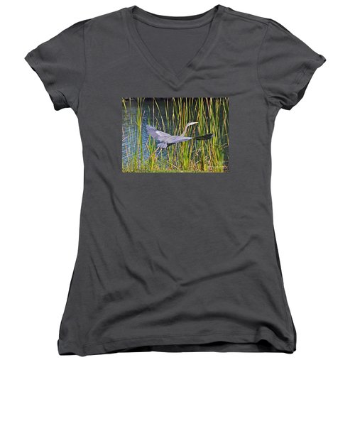 Taking Off Women's V-Neck T-Shirt