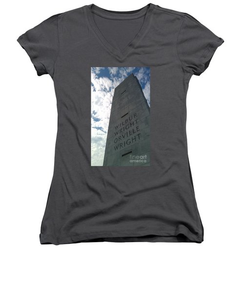 Wright Brothers Memorial Women's V-Neck (Athletic Fit)