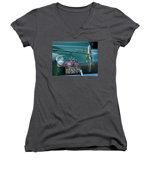 1941 Studebaker Women's V-Neck T-Shirt