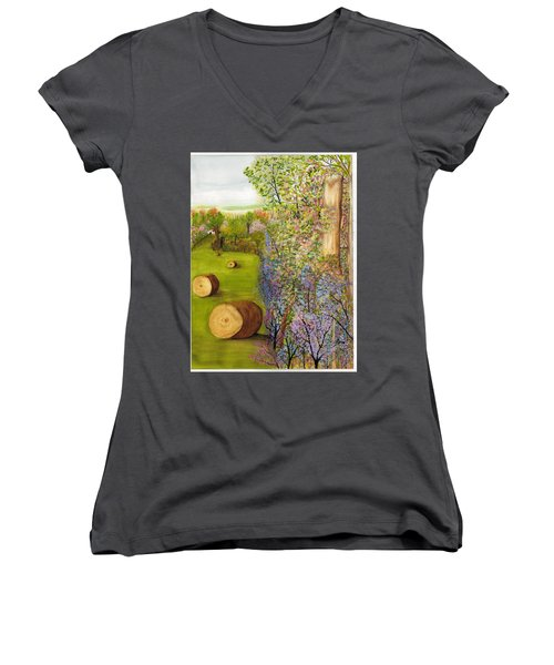 Dogwoods And Redbuds Women's V-Neck (Athletic Fit)