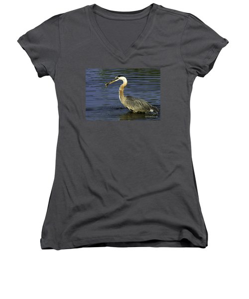 Women's V-Neck T-Shirt (Junior Cut) featuring the photograph 2 For 1 Dinner Special by Clayton Bruster