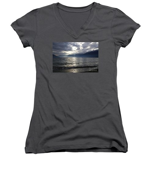 Sunlight Over A Lake Women's V-Neck