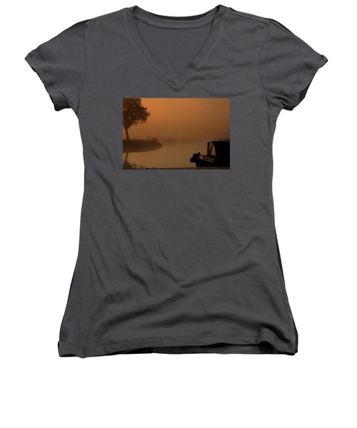Women's V-Neck T-Shirt (Junior Cut) featuring the photograph A Nice Place by Linsey Williams