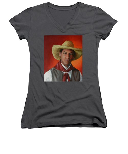 A Smile From The Andes Women's V-Neck T-Shirt