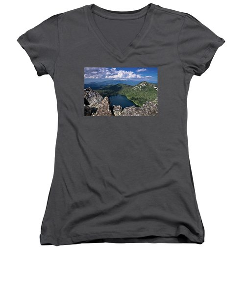 Above Castle Lake Women's V-Neck (Athletic Fit)