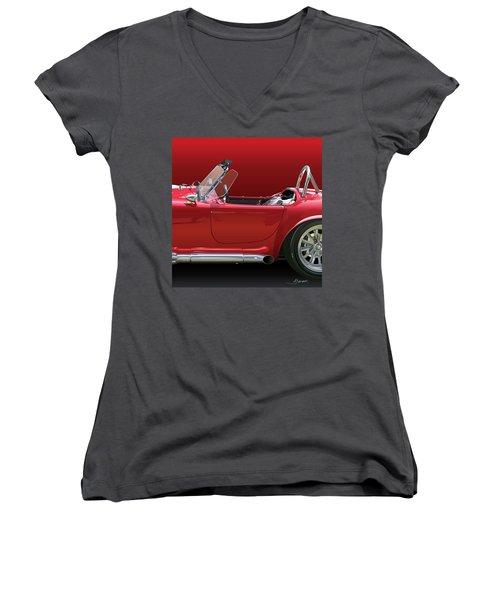 Ac Cobra Detail Women's V-Neck T-Shirt