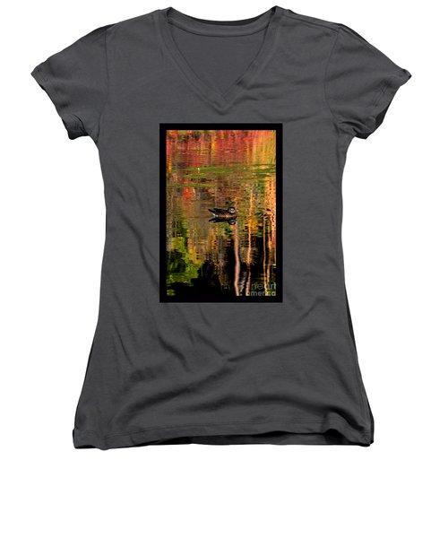 Adrift In Pastels Women's V-Neck T-Shirt (Junior Cut) by Susanne Still