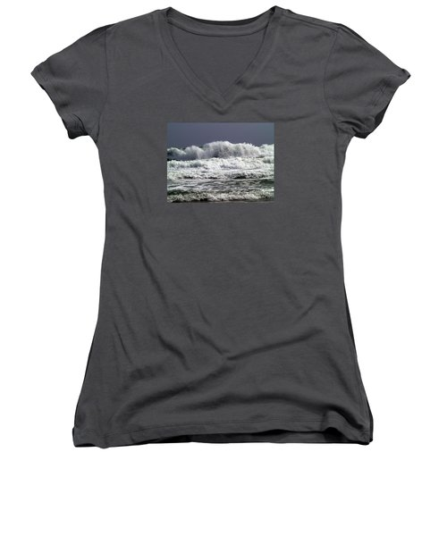 Aftermath Of A Storm Iv Women's V-Neck T-Shirt (Junior Cut) by Patricia Griffin Brett